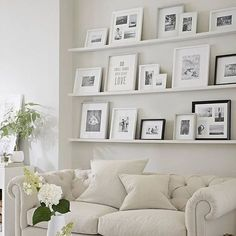 Outstanding 50 Stunning Photo Wall Gallery Ideas https://decoratoo.com/2017/04/11/50-stunning-photo-wall-gallery-ideas/ Only a few people think of working with this space to earn a gallery wall. This space is a fashionable addition to a residence's design