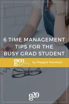 Grad school is no joke. Twice as busy as undergrad, with twice as much responsibility. Take it from a fellow grad student -- here are 6 tips for making your schedule manageable.