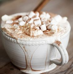 Theme of the Month in our shop: Ceramics. Vestergården for hot beverages. Care for some :) Marshmallow, Hot Chocolate, Beverages, Ceramics, Drink, Mugs, Kitchen, Shop, Design