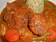 South African BBQ Spice Oxtail Stew with Mint Rice _ Truly one of the very best tasting oxtail stews that there is!