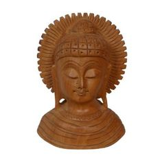 Amazon.com: Religious Buddha Wooden Bust Figurine Art Decor: Home & Kitchen