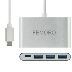 Amazon.com: FEMORO Support Macbook 2016 Charging and Data Transfer USB-C to 3-Port USB 3.0 Hub Adapter Converter ,Type-c USB3.1 Charging Hub for New Macbook,Chromebook Pixel,Nokia N1, Nexus 6p(Silver Aluminum): Computers & Accessories New Macbook, Chromebook, Computer Accessories, Computers, Usb, Type, Amazon, Mini