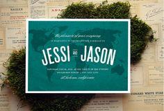 Across the Map Wedding Invitation. $3.50, via Etsy.