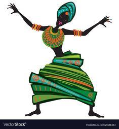 Art Beat, Cool Art Drawings, Art Sketches, Dance Vector, Illustrations, Illustration Art, African Dance, Africa Art, Dance Art