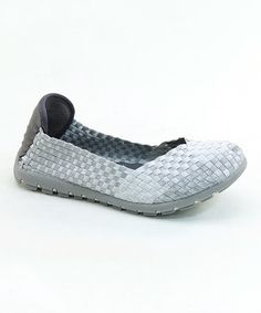 This Silver & White Weave Slip-On Shoe by Italina is perfect! #zulilyfinds