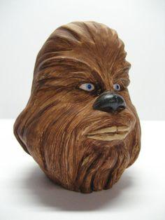Chewbacca Star Wars Sculpture Tap Handle Shift by BoneYardSculpts