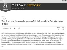 This day in history Bill Haley, February 5, Britain, History, Day, Historia