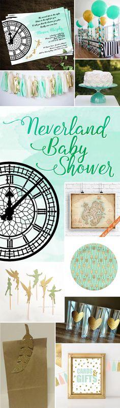 67 New Ideas Baby Shower Ideas Disney Peter Pan Birthday Parties Baby Girl Nursery Themes, Boy Baby Shower Themes, Baby Shower Cards, Baby Boy Shower, Baby Shower Invitations, Nursery Ideas, Shower Favors, Shower Games, Fête Peter Pan