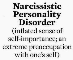 Narcissistic Personality Disorder --- Just in case you ignored my other Pin on this subject. Self Centered Quotes, Self Centered People, Narcissistic Sociopath, Narcissistic Personality Disorder, Narcissistic Sister, Narcissistic People, Narcissistic Behavior, Causes Of Narcissism, People Quotes