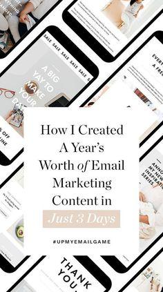 E-mail Marketing, Best Email Marketing, Email Marketing Design, Email Marketing Campaign, Content Marketing Strategy, Email Design, Facebook Marketing, Business Marketing, Online Marketing