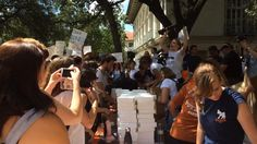 UT Austin students protested a new gun law by giving out 4,000 dildos at a 'Cocks Not Glocks' rally
