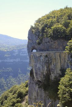 Combe laval - Drôme, France, via Flickr.  We drove through the arch - spectacular!