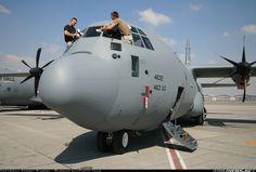 Lockheed Martin C-130J-30 Hercules (L-382) Need to be clean before show. Dubai 2007.