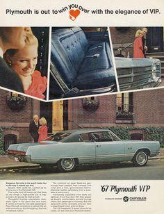 1967 Plymouth VIP Vintage Automobile Advertisement by AdVintageCom