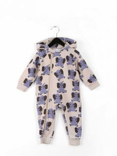 Elephant AOP Onesie by Mini Rodini
