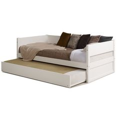 Kareem Wood Panel Twin Daybed with Trundle Wood Slats, Wood Paneling, Wooden Daybed With Trundle, Bed Lifts, Trundle Mattress, Straight Line Designs, Down Comforter, Under Bed, Bed Plans