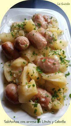 La Guinda: Salchichas con aroma de limon y cebolla