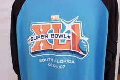 Superbowl XLI Long Sleeve Shirt L 2007 Indianapolis Colts Bears Peyton Manning #Reebok #LongSleeve