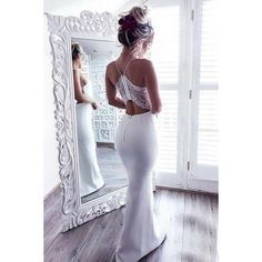 Beautiful Prom Dress, white prom gown sexy prom dresses lace evening gowns mermaid party dresses tulle evening gowns modest formal dress white evening gown for teens Meet Dresses Modest Formal Dresses, Sexy Wedding Dresses, Sexy Dresses, Party Dresses, White Prom Dresses, Backless Wedding, Occasion Dresses, Sexy Maxi Dress, Lace Dress