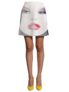 JEREMY SCOTT Short Pleated Skirt. #jeremyscott #cloth #