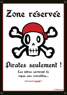 """Pirates solely"" poster to print Deco Pirate, Pirate Theme, Decoration Pirate, Halloween Decorations, Halloween Party, Pirate Birthday, Poster S, Happy B Day, Diy For Kids"