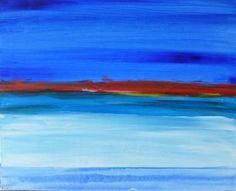 "Saatchi Art Artist Twyla Gettert; Painting, ""Blue Sea Sunset"" #art"