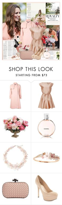"""""""Pretty Pastel Trench Coat: Kate Middleton"""" by beautifully-eclectic ❤ liked on Polyvore featuring Nico, American Vintage, Thom Browne, Paule Ka, Chanel, NOVICA, Chaumet, Bottega Veneta, GUESS by Marciano and women's clothing"""