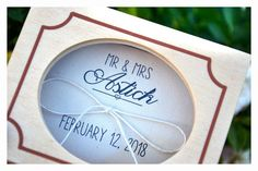 Your place to buy and sell all things handmade Personalised Wooden Box, Personalized Rings, Personalized Wedding, Wedding Ring Box, Wedding Boxes, Mrs Ring, Ring Bearer Box, Mr Mrs, Wooden Boxes