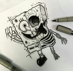 Dedenhos You are in the right place about tattoo drawings traditional Here we offer you the most bea Creepy Drawings, Dark Art Drawings, Pencil Art Drawings, Art Drawings Sketches, Cool Drawings, Drawing Drawing, Drawing Ideas, Graffiti Drawing, Graffiti Art