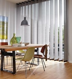 Luxaflex Vertical Blinds are a practical and stylish window covering soloution for humid rooms like bathroom, kitchens, bathrooms, and other rooms with moisture considerations. #luxaflex #home decor #vertical blinds