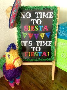 Cinco de Mayo Fiesta Party Ideas. I love this big party sign!