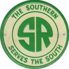 OLD VINTAGE SOUTHERN RAILROAD METAL SIGN !