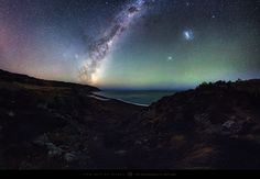 'Better quality here: https://500px.com/photo/103227027/wainui-nights-by-mark-gee  The Wainuiomata coast near Wellington, New Zealand is rugged and exposed, but also very picturesque, and a location I've been wanting to photograph at night for a while now. I finally got the perfect night to do so, and hiked the 3.5km with my camera gear out to Baring Head, where I set up overlooking the beach and the Wainuiomata River. The Milky Way was stunning this night as it rose towards the east, and…