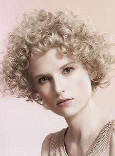 Short naturally curly hair