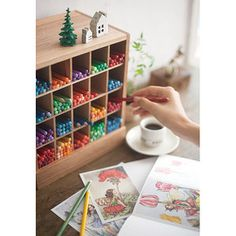I want this colored pencil storage.