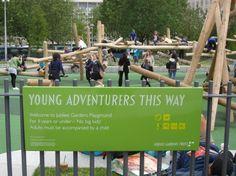 Jubilee Gardens playground by the London Eye