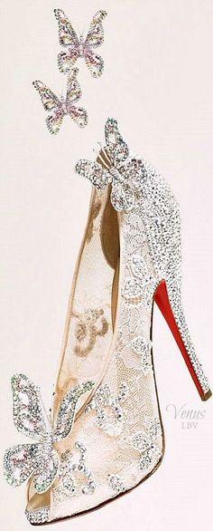 "Christian Louboutin ♥✤ ""Cinderella"" Shoe www.ScarlettAvery.com"
