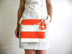 Summer Bag Lifebuoy  nautical art summer fashion by PrivateDock, $59.00