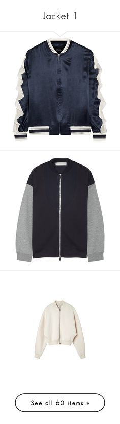 """""""Jacket 1"""" by minorseventh ❤ liked on Polyvore featuring outerwear, jackets, coats & jackets, tops, bomber jacket, navy, navy jacket, blouson jacket, sporty jacket and navy flight jacket"""