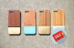 IPhone 6 Case Wood and Aluminium iPhone case Wood by TheEcoOwl