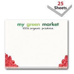 Promotional Products - Custom Promotional Sticky Notes - 4 x 3 pad 25 sheets. (Customized with your Brand or Logo)