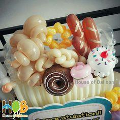Fancy Pastry www.houseofballoon.com #balloon #balon #HouseofBalloon #HOB #HOBdummy #HOBparcel #HOBstandingparcel #pastry #dummypastry #dummyballoon #bakeryshop