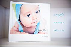 DIY Baby Book - using photo book templates (e.g. Shutterfly, MyBlurb, etc.)