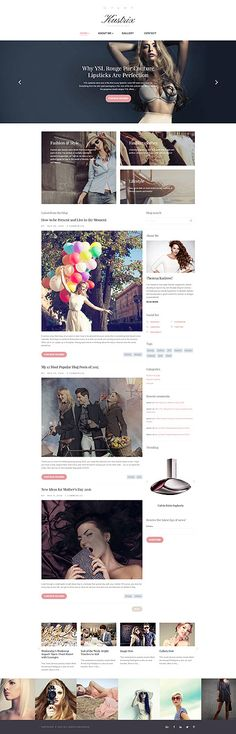 Fashion & Style Blog #Drupal #template. #themes #business #responsive