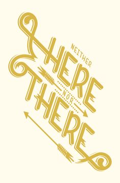 here nor there, typography