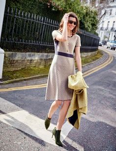 Zoe Knitted Dress WW128 Printed Dresses at Boden