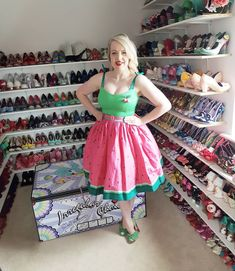 Bright colours for a sunshine filled day! Dress by @collectifclothing with @irregularchoice shoes and a @luxulite brooch! #irregularchoice #luxulite #collectif #collectifclothing #shoes #heels #watermelon #shoeroom #shoegoals #ootd #outfit #outfitoftheday #wiw #wiwt #vintage #vintageinspired #vintagestyle #retro #rockabilly #pinup #pinupinspired #pinupstyle #pinupfashion #fifties #1950s