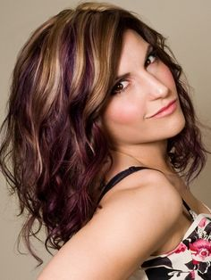 This is happening... Colored Hair Highlights image Colored Hair Highlights for Brunette Hair