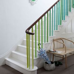 Painted bannisters. For more like this, click the picture or visit RedOnline.co.uk