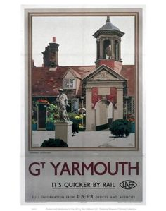 Great Yarmouth - Fishermen's Almshouses by National Railway Museum Posters Uk, Train Posters, Railway Posters, Poster Prints, Art Prints, British Travel, National Railway Museum, Great Yarmouth, Beautiful Posters